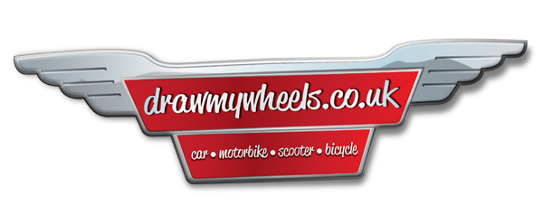 drawmywheels.co.uk - high quality artowrk of  your favourite car, motorbie, scooter or bicyle.